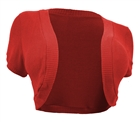 Plus Size Cropped Bolero Shrug Coral