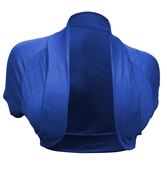 Plus Size Open Front Cropped Bolero Shrug Blue2