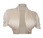 Plus size Ruched Sleeves Cropped Bolero Shrug Khaki