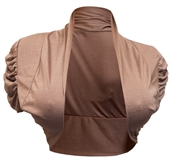 Plus size Ruched Sleeves Cropped Bolero Shrug Coco
