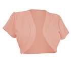 Plus size Open Front Short Sleeve Bolero Peach