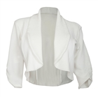 Plus Size Open Front Cropped Jacket White